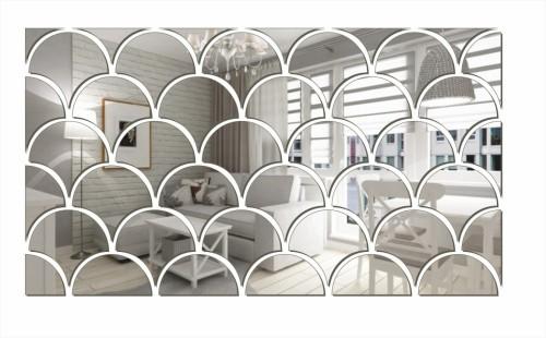 Dekoracyjne Lustro Akrylowe łuski